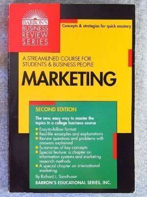 9780812015485: Marketing (Barron's Business Review Series)