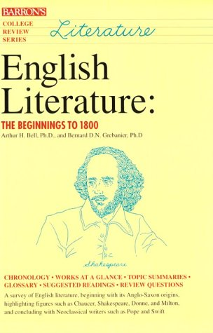 9780812017755: English Literature: The Beginnings to 1800 (College Review Series)