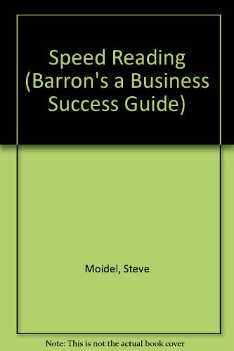 9780812018455: Speed Reading (Barron's a Business Success Guide)