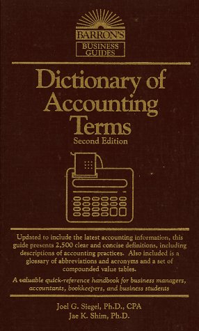 9780812019186: Dictionary of Accounting Terms (Barron's Business Guides)