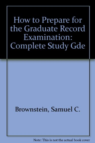 9780812023466: How to Prepare for the Graduate Record Examination: Complete Study Gde