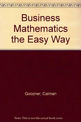 9780812025132: Business Mathematics the Easy Way