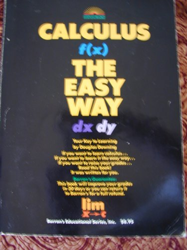 9780812025880: Calculus the Easy Way