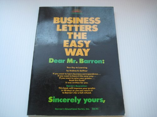 9780812027105: Business Letters the Easy Way