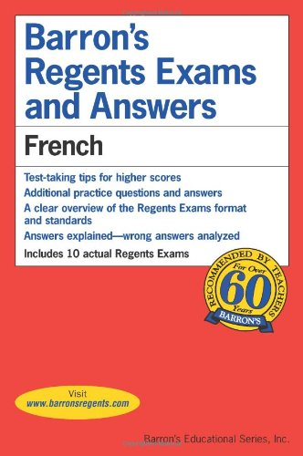 Barron's Regents Exams and Answers: French (0812031474) by Christopher Kendris Ph.D.; Theodore Kendris