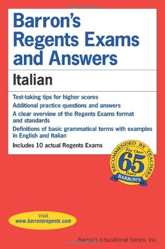 9780812031492: Italian (Barron's Regents Exams and Answers)
