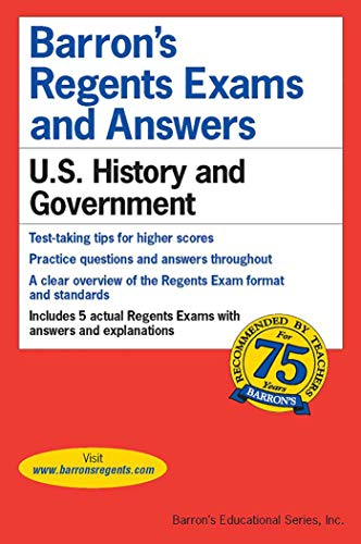 Barron's Regents Exams and Answers: U.S. History and Government; 2000-2001