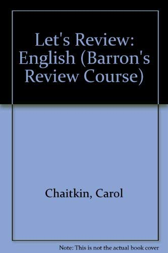 9780812033762: Let's Review: English (Barron's Review Course)