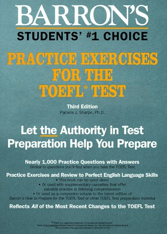 9780812033984: Barron's Practice Exercises for the Toefl Test (Test Preparation)
