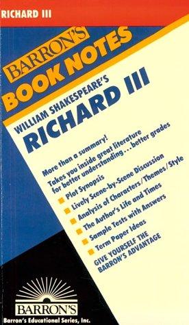 Richard III (Barron's Book Notes): Shakespeare, William, Rosenblatt, Arthur S.