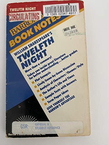 William Shakespeare's Twelfth Night (Barron's Book Notes) (9780812035483) by Robert Owens Scott