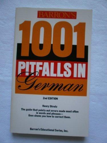 9780812037180: 1001 Pitfalls in German (Pitfalls series)