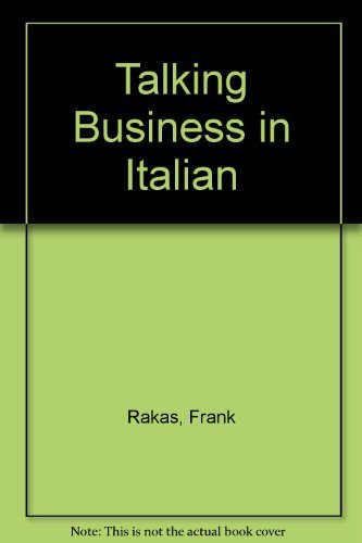 9780812037548: Talking Business in Italian (Barron's bilingual business guides)