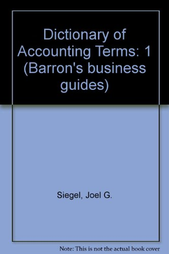 9780812037661: Dictionary of Accounting Terms (Barron's Business Guides)
