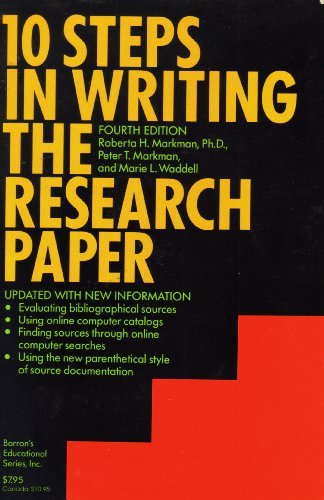9780812041514: 10 Steps in Writing the Research Paper