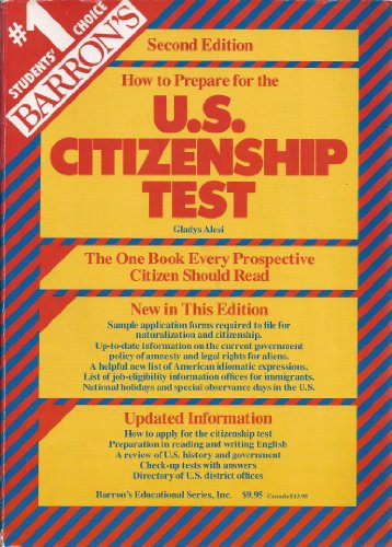 9780812042672: How to prepare for the U.S. citizenship test (Barron's How to Prepare for the United States Citizenship Test)