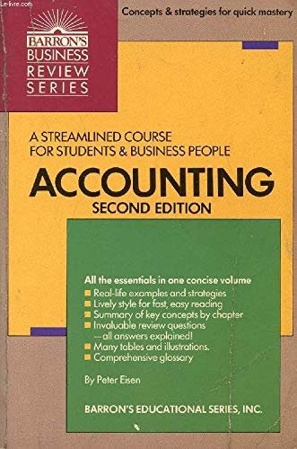 9780812043754: Accounting (Barron's business review series)