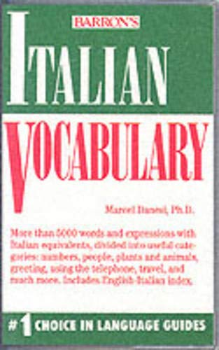 9780812044713: Italian Vocabulary