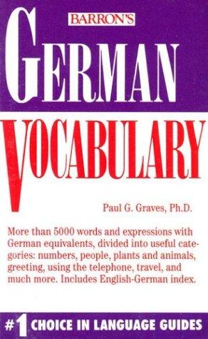 9780812044973: German Vocabulary (Barron's Vocabulary Series)
