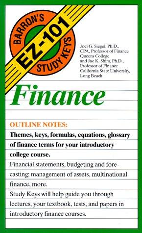 9780812045963: Finance (Barron's Ez-101 Study Keys)