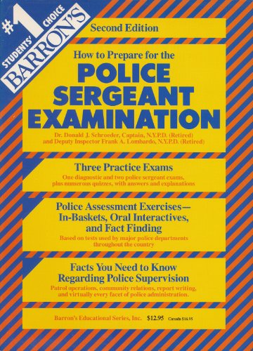 9780812048414: How to Prepare for the Police Sergeant Examination (Barron's How to Prepare for the Police Sergeant Examination)