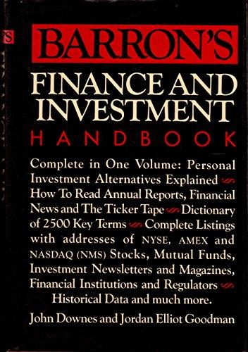 Barrons Finance and Investment Handbook