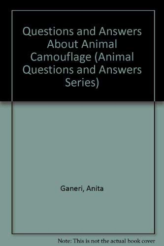 9780812062366: Questions and Answers About Animal Camouflage (Animal Questions and Answers Series)