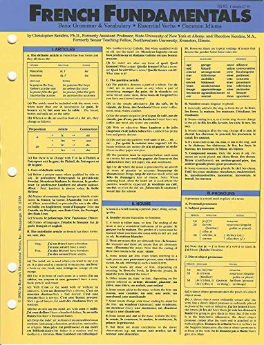 Language Fundamentals: French (Language Fundamentals Card Guides) (9780812063059) by Christopher Kendris Ph.D.; Theodore Kendris Ph.D.