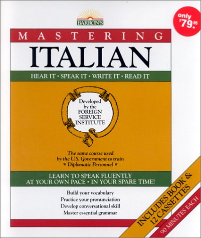 9780812073232: Mastering Italian: Book and 12 Cassettes (Mastering Series: Level 1)