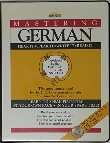 9780812078695: Mastering German: with 15 Compact Discs (Mastering Series: Level 1 CD Packages)