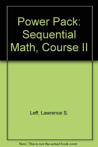 9780812084160: Barron's Regents Power Pack : Sequential Mathematics Course II/Barron's Regents Exams and Answers : Three Year Sequence for High School