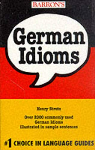 9780812090109: German Idioms (Barrons)