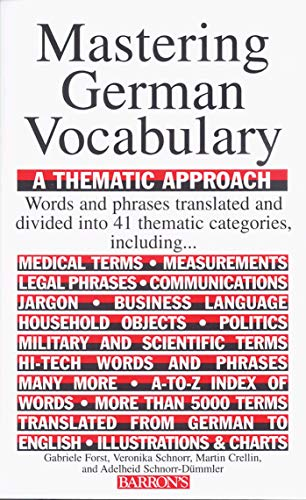 9780812091083: Mastering German Vocabulary: A Thematic Approach (Mastering Vocabulary Series)