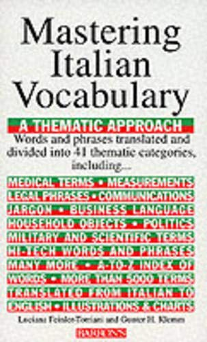 9780812091090: Mastering Italian Vocabulary: A Thematic Approach (Mastering Vocabulary)
