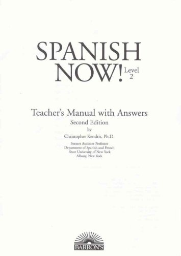 9780812093223: Spanish Now!: Teacher's Manual for Level Two Workbook: Level 2