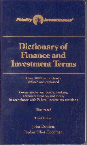 9780812093773: Dictionary of Finance and Investment Terms - Third Edition