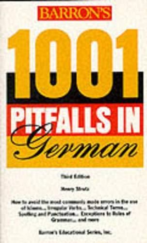 9780812096521: Barron's 1001 Pitfalls in German Third Edition (1001 Pitfalls Series)