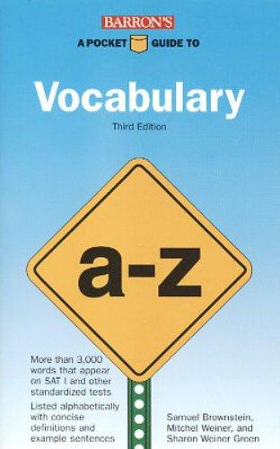 9780812098181: A Pocket Guide to Vocabulary (Barron's Pocket Guides)