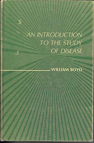 9780812106008: Introduction to the Study of Disease