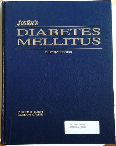 9780812115314: Joslin's Diabetes Mellitus