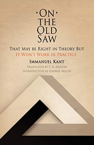 9780812210583: On the Old Saw: That May be Right in Theory But It Won't Work in Practice (Works of continental philosophy)