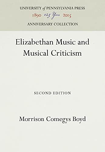 9780812210712: Elizabeth Music Pb