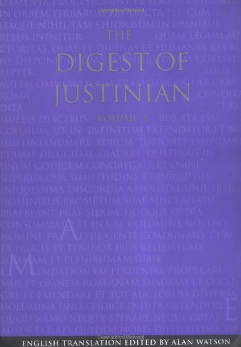 9780812216363: The Digest of Justinian