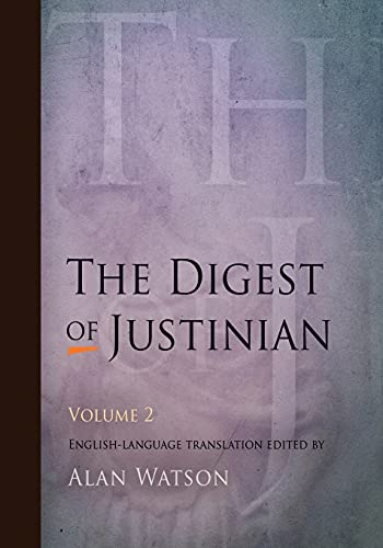 9780812220346: The Digest of Justinian, Volume 2: v. 2