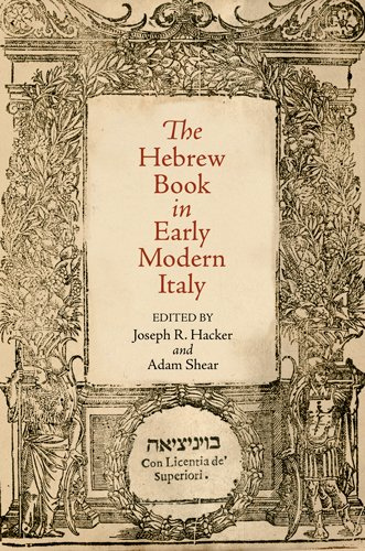 9780812243529: The Hebrew Book in Early Modern Italy (Jewish Culture and Contexts)