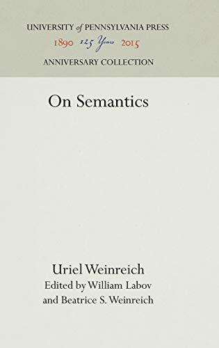 9780812277593: On Semantics