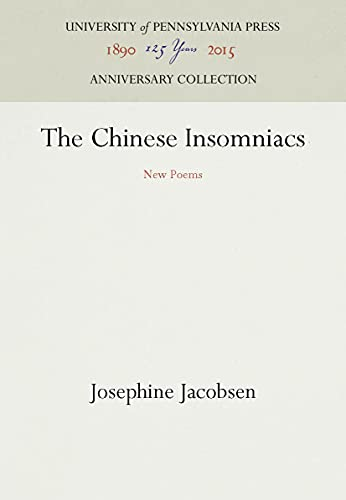 9780812278187: The Chinese Insomniacs - New Poems