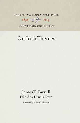 Beispielbild für On Irish Themes : James T. Farrell zum Verkauf von Better World Books