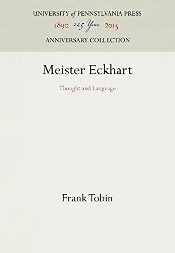 9780812280098: Meister Eckhart: Thought and Language (Middle Ages Series)