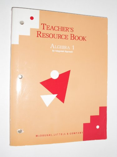 9780812358629: Teacher's Resource Book Algebra 1 An Integrated Approach